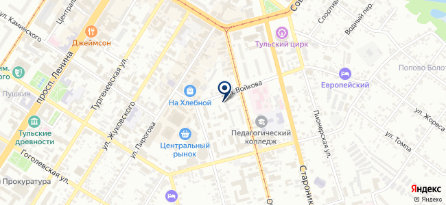 Сигнал Тула на карте