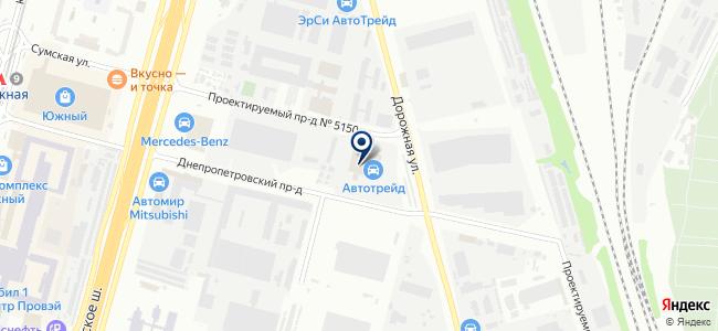 Автоцентр на Южной на карте