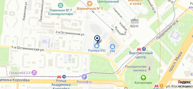 Зодиак-М на карте