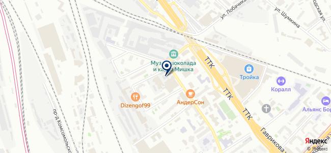 Сибатекс на карте