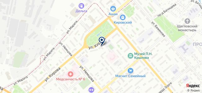 Магазин отделочных материалов и инструментов на карте