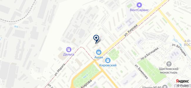Электа на карте