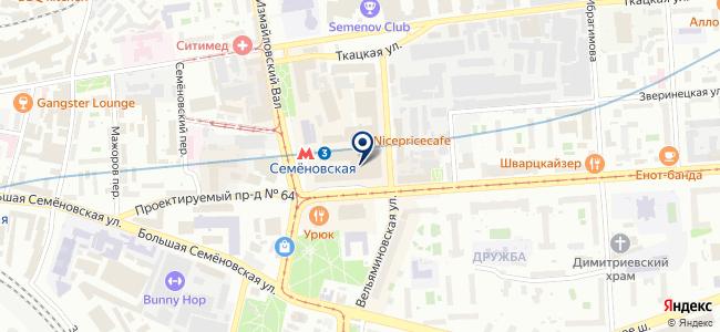 Магазин электротоваров на Семёновской площади, 1 на карте