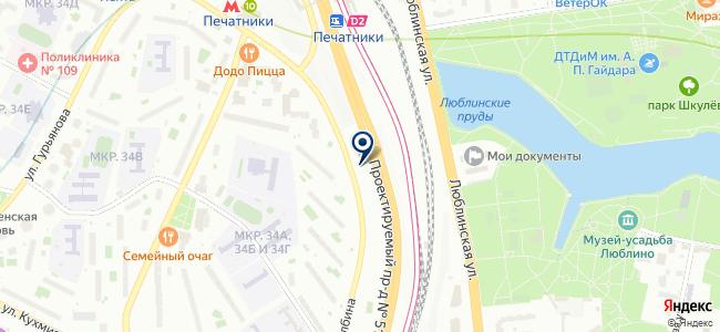 Пск Орест, ЗАО на карте