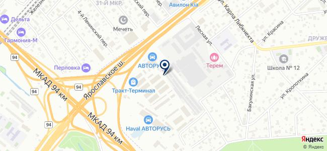 Атланттехснаб на карте