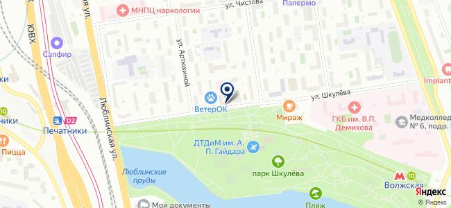 Лайнтест на карте