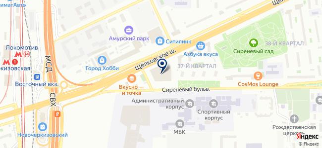 Русский неон на карте
