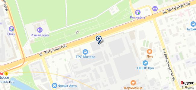 ТАРИС на карте