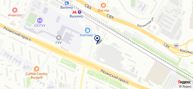 Электрофаза, ООО на карте