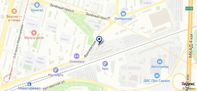 Асвега-комплект на карте