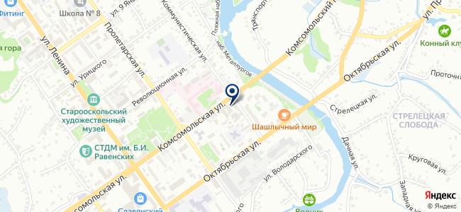 Осколэнергопоставка на карте