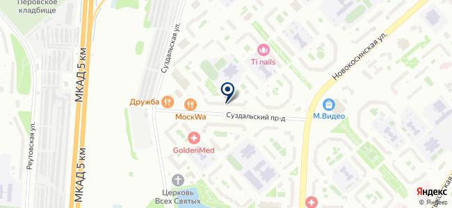 Магазин отделочных материалов на Суздальской, 12 к4 на карте