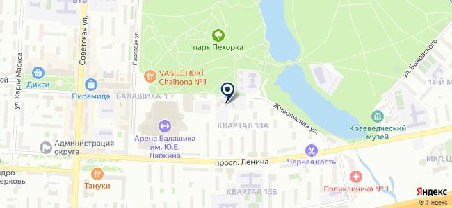 Аксиома, ЗАО на карте