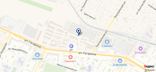 Магазин отделочных материалов и светотехники на карте