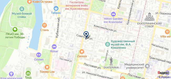 Торгово-промышленная палата Краснодарского края на карте