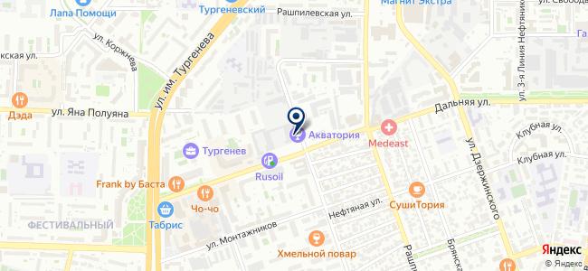 РЭК на карте