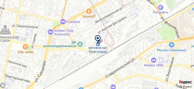 Кубаньпассажиравтосервис, ОАО на карте