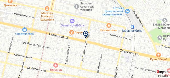 Диора-ЮГ на карте