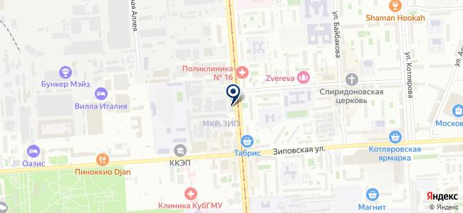 Югкомплектавтоматика, ЗАО на карте