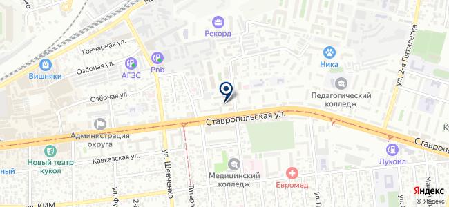 Лазерприбор на карте