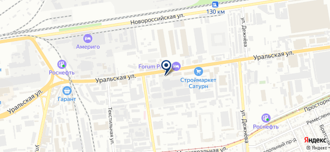 Электроюг на карте