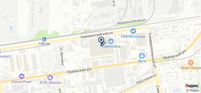Югрост на карте