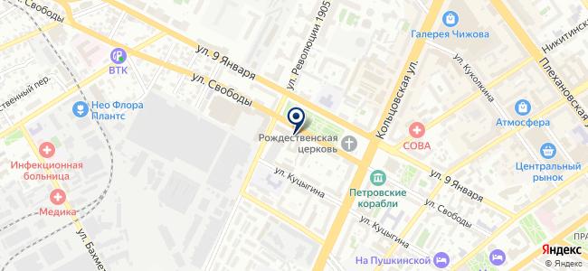Воронеж, ООО на карте