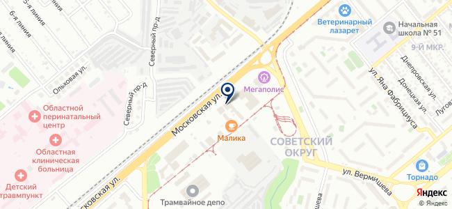 Carson на карте