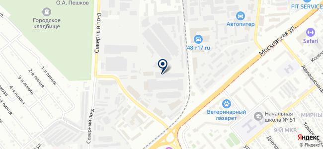 Инструмент48 на карте