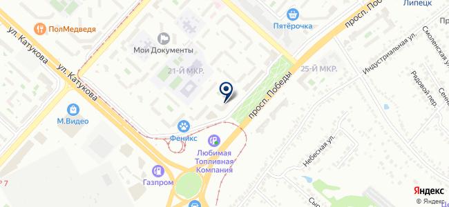 Спутниковая компания на карте
