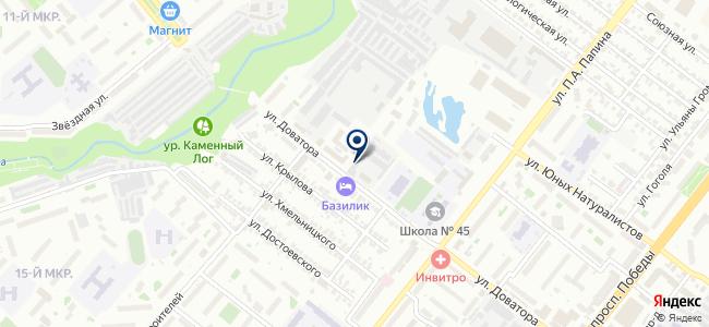 Липецкий прибороремонтный завод, ЗАО на карте