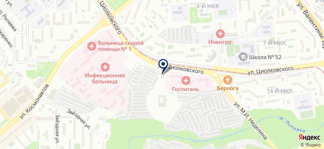Салон обоев и светотехники на карте