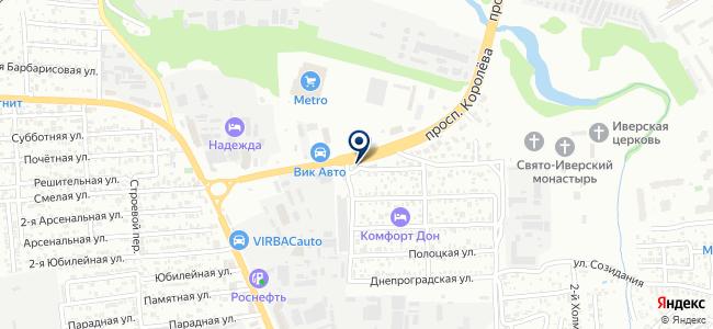 Донской крепеж на карте