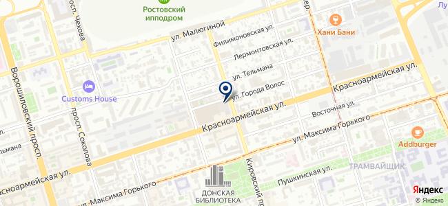 Ростовпассажиртранс на карте