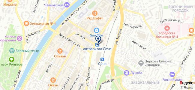 Сочиавтотранс, МУП на карте