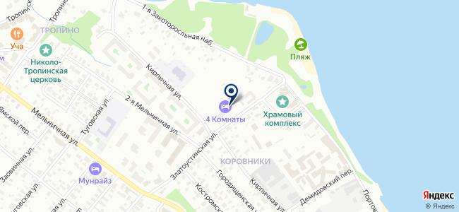 Хускварна-Ярославль на карте