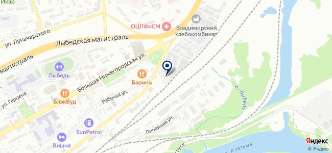 Владимирпассажиртранс, ОАО на карте