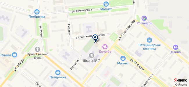 Сеть магазинов электроники на карте