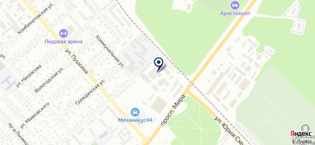Центр технического снабжения на карте