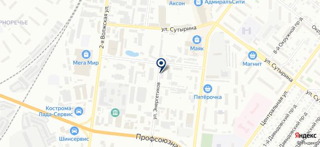 Кострома унистрой, ООО на карте