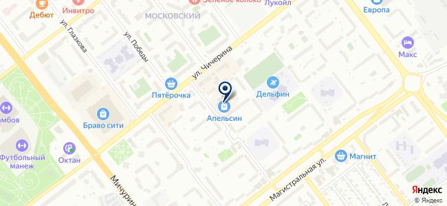 Магазин электротоваров на ул. Чичерина, 48а на карте