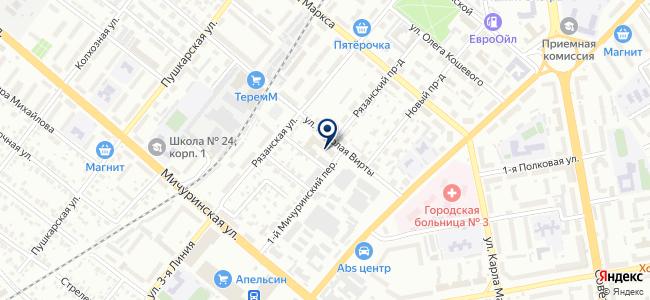 Элби на карте