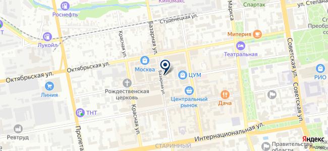 Люстроф на карте
