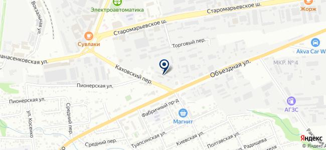 Муниципальное унитарное автотранспортное предприятие г. Ставрополя на карте