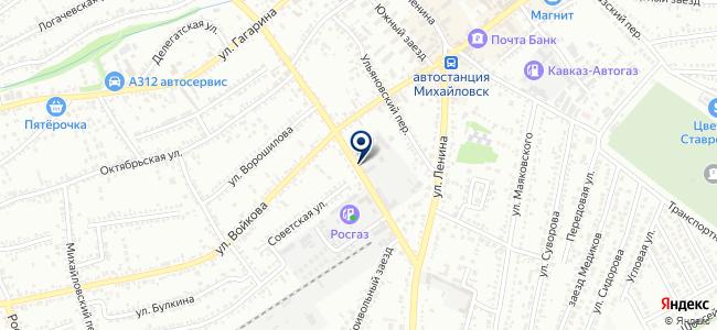 Южстройэнерго на карте