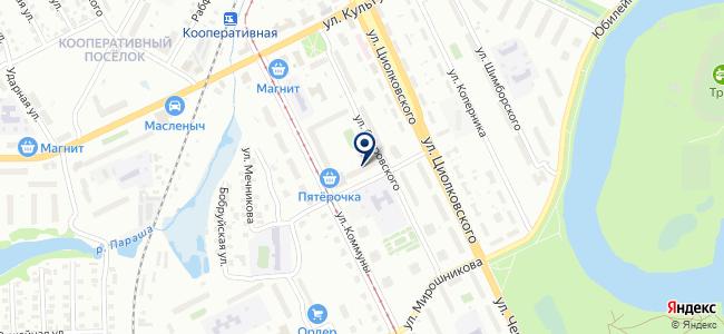 Магазин электротоваров на ул. Островского, 7 на карте