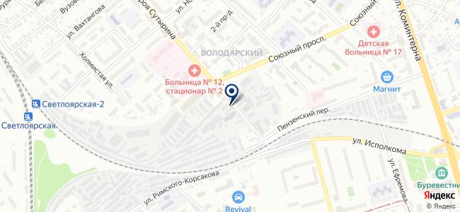 ЭНТРОС на карте