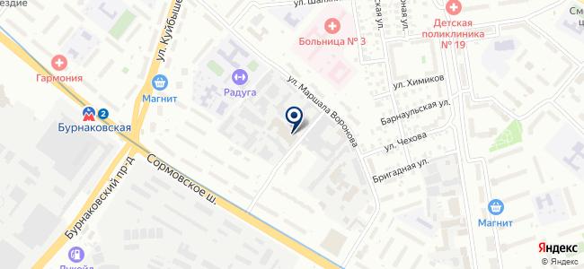 ЮЛК-НН на карте