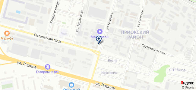 Теплоцентр на карте