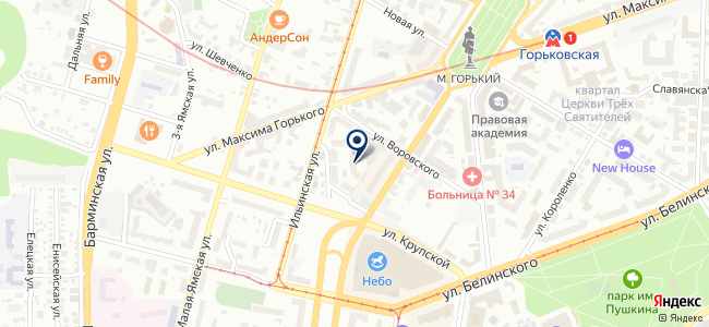 МКМ-НН, ЗАО на карте
